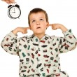 Bedtime for a disobedient kid — Stock Photo