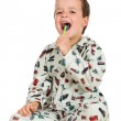 Remeber to always brush your teeth in the evening — Stock Photo #6409299