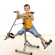 Happy boy in the gym — Stock Photo #6409357