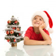 Boy dreaming of christmas — Stock Photo #6409387
