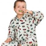 Kid washing teeths — Stock Photo #6409421