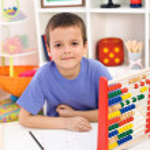 Boy preparing for elementary school — Stock Photo #6409426
