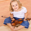 Little girl with violin — Stock Photo #6409576