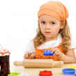 Little girl preparing to make cookies — Stock Photo #6409681