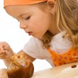 Little girl making cookies series — Stock Photo #6409686