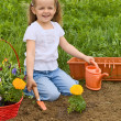 Little girl gardening — Stock Photo #6409821