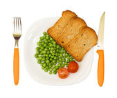 Vegetarian diet plate — Stock Photo