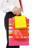 Businessman shopping — Stock Photo