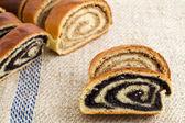 Beigli - hungarian poppy seed and walnut rolls — Stock Photo