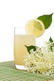 Elderberry flower flavored refreshing juice — Stock Photo