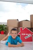 Šťastlivce, kterým se ve svém novém domově — Stock fotografie