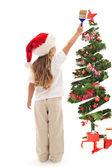 Pinte seu Natal em luzes mágicas — Fotografia Stock