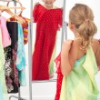 Trying on dresses is fun — Stock Photo