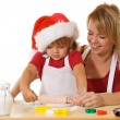 Making cookies at christmas time — Stock Photo