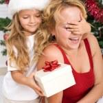 överraska julklapp — Stockfoto