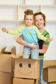 Moving into a new home concept — Stock Photo