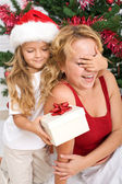 Surprise christmas present — Stock Photo