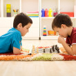 Stock Photo: Kids playing chess
