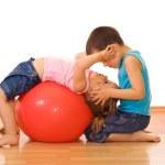Gym kids — Stock Photo