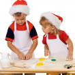 Stock Photo: Preparing christmas cookies
