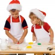 Preparing the christmas cookies — Stockfoto