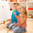 Kids learning the numbers — Stock Photo #6430220