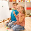 Kids learning the numbers — Stockfoto #6430220