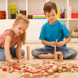 Little builders — Stockfoto
