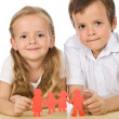 Kids holding paper — Stock Photo #6430306