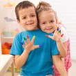 Two kids in their room playing — Stock Photo #6430350