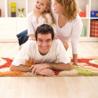 Happy family having fun together — Stock Photo #6430455