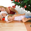 Christmas bunch under the fir tree — Stock Photo