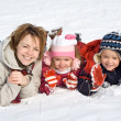 Stock Photo: Family in the snow