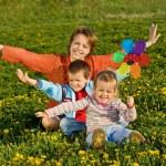 Spring family fun — Stock Photo
