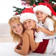 Happy christmas heap — Stock Photo