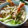 Noodle shellfish soup — Stock Photo