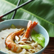 Noodle shrimps - Stock Photo