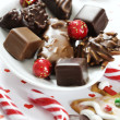Stock Photo: Christmas sweets selection