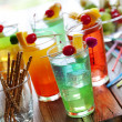 Colorful cocktails — Stockfoto