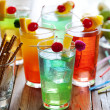 Colorful cocktails — Stock Photo #6362336