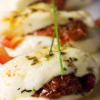 Baked halloumi cheese - Stock Photo