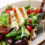 Fresh luxurious salad — Stock Photo