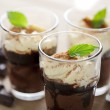 Chocolate and vanilla mousse — Stock Photo #6362599