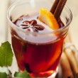 Stock Photo: Mulled wine christmas drink
