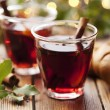 Mulled wine christmas drink — Stock Photo
