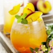 Peach cocktail - Stock Photo