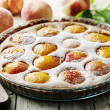 Rustic peach tart - Stock Photo