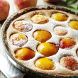 Peach tart - Stock Photo