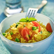 Vegetable and rice salad — Stock Photo