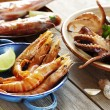 Seafood outdoors — Stock Photo #6362814